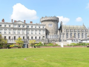 Dublin Castle with (big round) Record tower in Ireland.